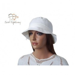 Kapelusz damski bawełniany biały 55 cm